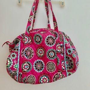 Vera Bradley pink duffel bag